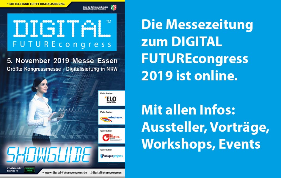 DIGITAL FUTUREcongress und dikomm am 05.11.2019 in der Messe Essen